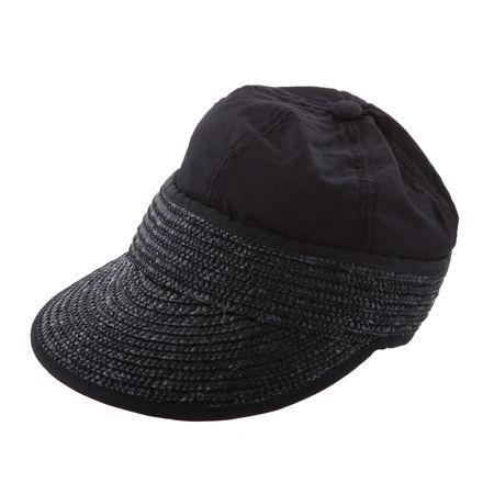 SEEBERGER Stroh/Stoffcap, Mütze mit Schirm, Umfang 56 cm – Bild 1