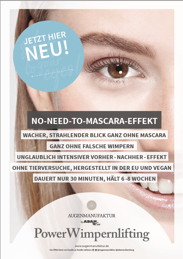 Lash Lifting Poster A1 / Customer Stopper