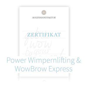 Wimpernlifting & WowBrow Express Schulung München Samstag 28.07.18 1
