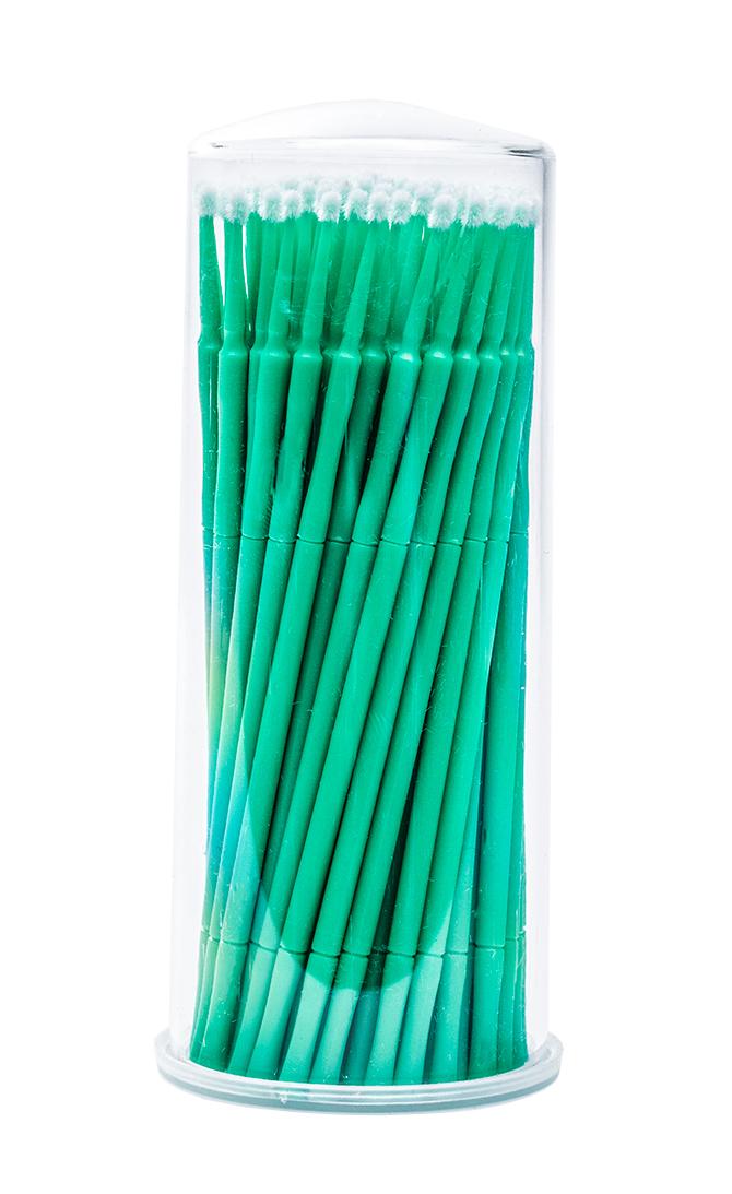 Microbrushstäbchen Lang Grün