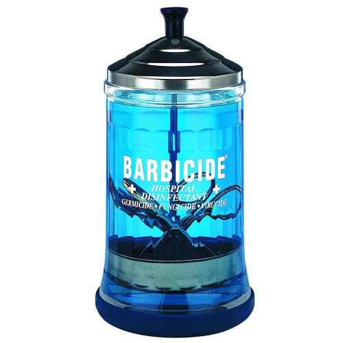 Barbicide disinfection glass
