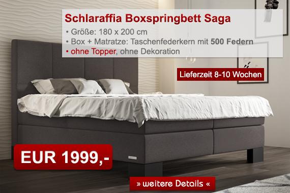Schlaraffia Saga Boxspringbett
