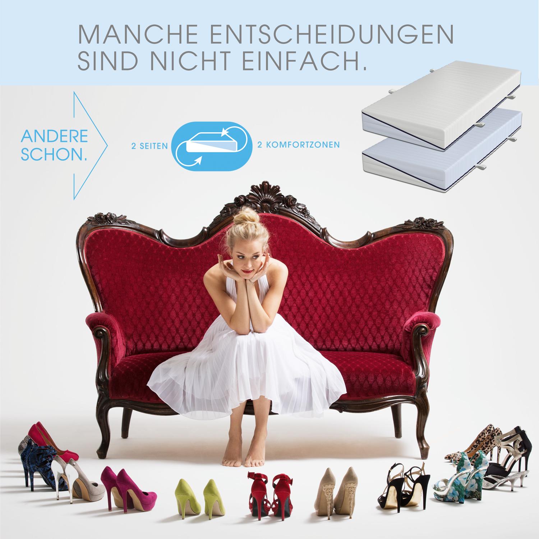 schlaraffia clever 35 tfk 2 h rten taschenfederkern matratze 80x200 cm h2 weich h2 fest. Black Bedroom Furniture Sets. Home Design Ideas