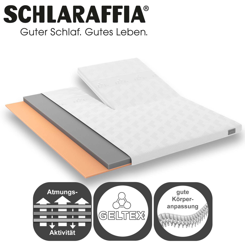 schlaraffia geltex topper qt splitversion. Black Bedroom Furniture Sets. Home Design Ideas