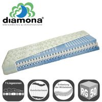 Diamona Perfect Fit Plus Partnermatratze 180x220 cm H2/H3 (2 Kerne in 1 Bezug)  Bild 2