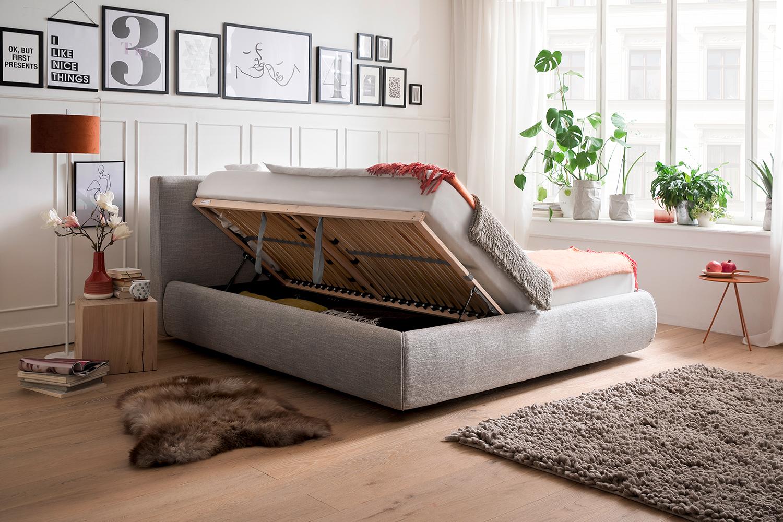 Meise Möbel Polsterbett Atesio 180x200 cm inkl. Bettkasten inkl. TFK-Matratze Bari Härte & Farbe wählbar