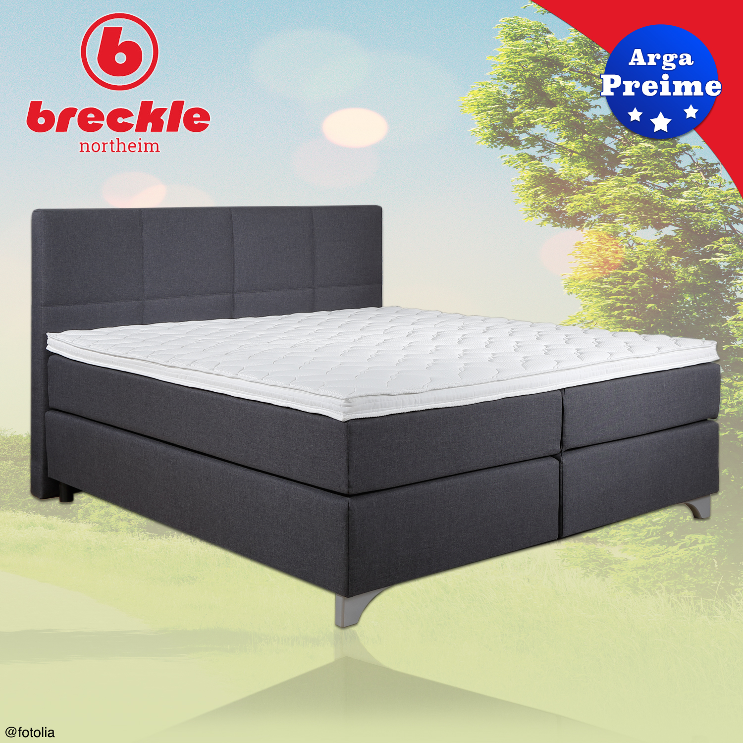 breckle boxspringbett arga preime 200x220 cm inkl topper 3700 gelschaum. Black Bedroom Furniture Sets. Home Design Ideas
