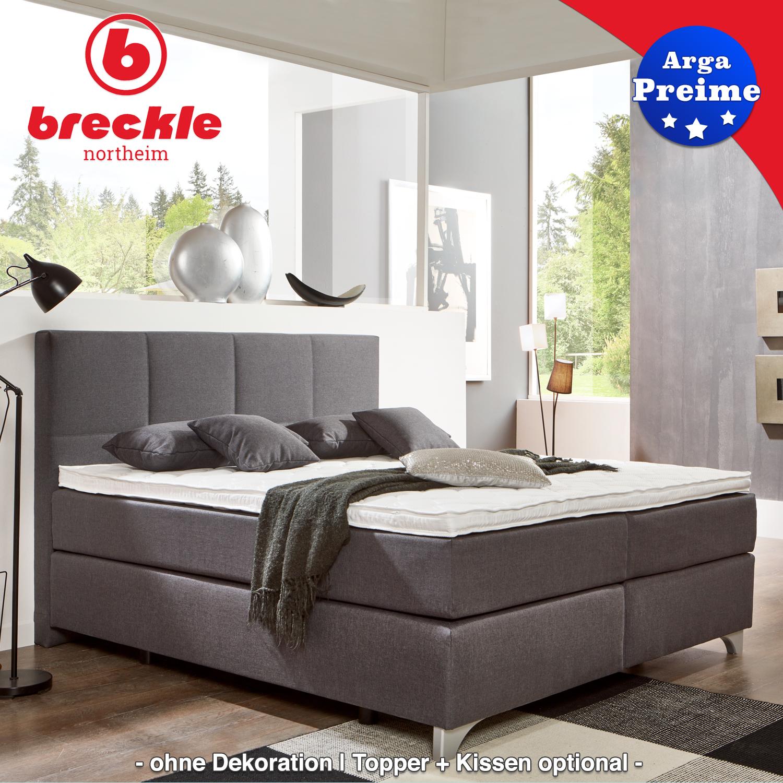 breckle boxspringbett arga preime 180x200 cm inkl topper 3700 gelschaum und kissenset. Black Bedroom Furniture Sets. Home Design Ideas