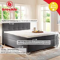 Breckle Boxspringbett Arga Best 180x200 cm inkl. Gel-Topper Bild 3