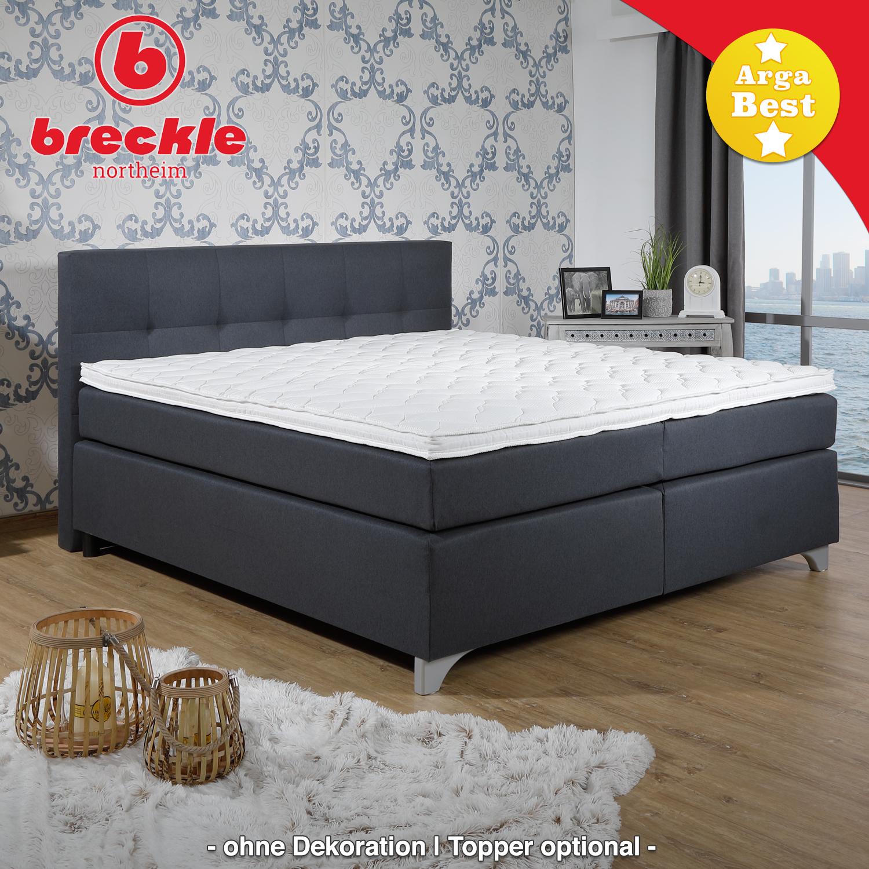 breckle boxspringbett arga best 140x220 cm inkl gel topper. Black Bedroom Furniture Sets. Home Design Ideas