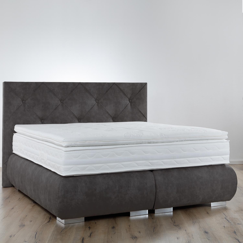 breckle boxspringbett arga palace 200x200 cm inkl gel topper platin premium. Black Bedroom Furniture Sets. Home Design Ideas