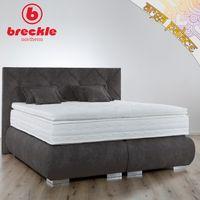 Breckle Boxspringbett Arga Palace 180x220 cm inkl. Gel-Topper Platin Premium & Kissenset – Bild $_i