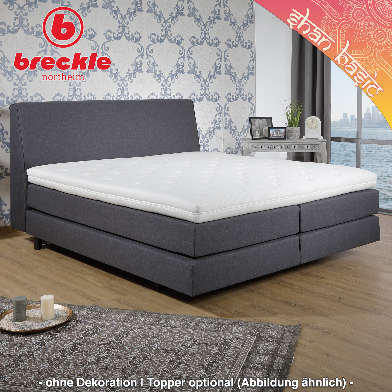 boxspringbett shan basic 140x200 cm inkl komfortschaum topper schwebeoptik m belstoff. Black Bedroom Furniture Sets. Home Design Ideas