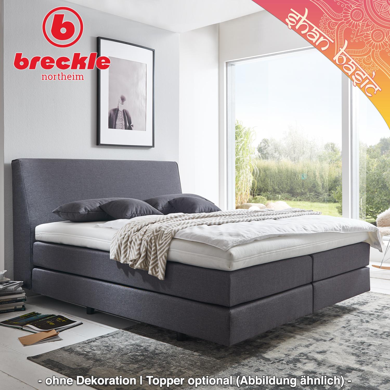boxspringbett shan basic 180x200 cm inkl kissenset u komfortschaum topper schwebeoptik. Black Bedroom Furniture Sets. Home Design Ideas