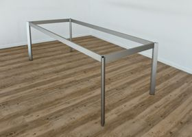 Design Tischgestell Frame B 2100 mm  T 950 mm aus Aluminium Inox