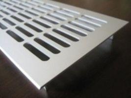 Lüftungsgitter Lochblech Aluminium Silber 250 x 102 mm