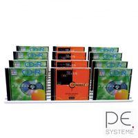 CD-Ständer Aluminium silber eloxiert für 33 CD's