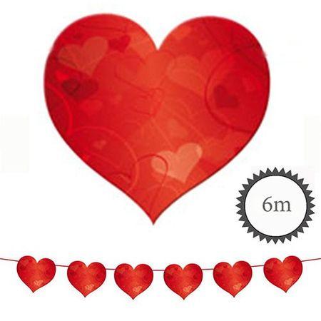 Wimpelkette Herzchen rot 6m