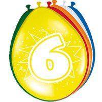 8 Luftballons Zahl 6 30cm
