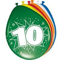 8 Luftballons Zahl 10 30cm