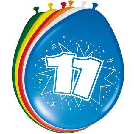 8 Luftballons Zahl 11 30cm