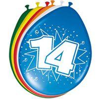 8 Luftballons Zahl 14 30cm