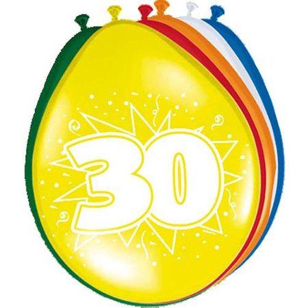8 Luftballons Zahl 30 30cm