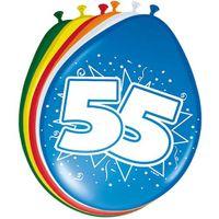 8 Luftballons Zahl 55 30cm