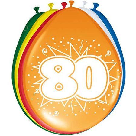 8 Luftballons Zahl 80 30cm