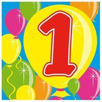 Servietten Ballons 1 Geburtstag 20 Stk.