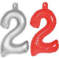 Aufblasbare Zahl 2 Geburtstag 35cm