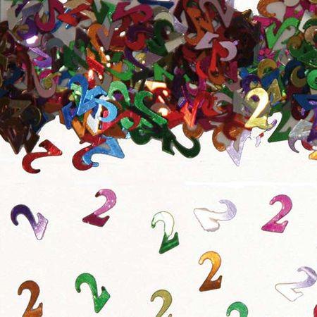 Konfetti Zahlenkonfetti 2 Geburtstag 15g
