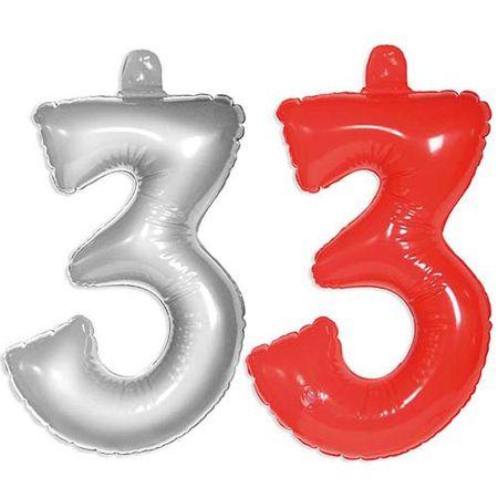 Aufblasbare Zahl 3 Geburtstag 35cm