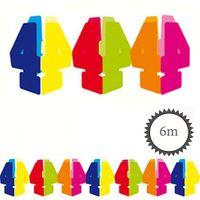 Papier Girlande 4 Geburtstag 6m