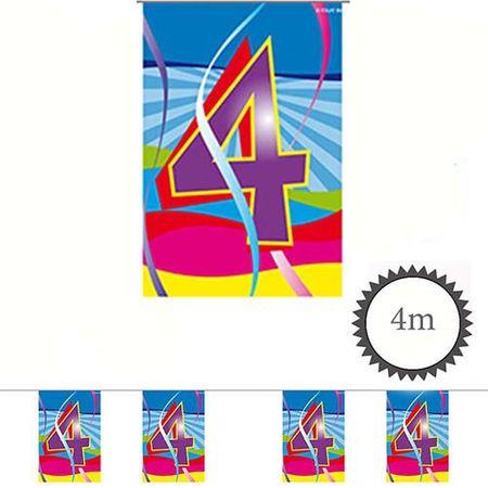 Mini Wimpelkette Swirl 4 Geburtstag 4m