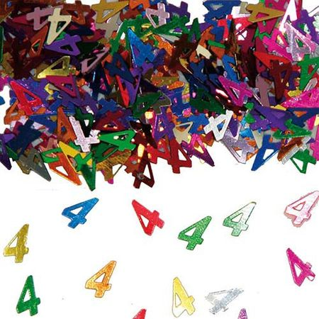 Konfetti Zahlenkonfetti 4 Geburtstag 15g