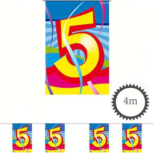 Mini Wimpelkette Swirl 5 Geburtstag 4m Partydeko Geburtstage Kinder