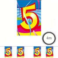 Mini Wimpelkette Swirl 5 Geburtstag 4m