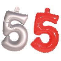 Aufblasbare Zahl 5 Geburtstag 35cm