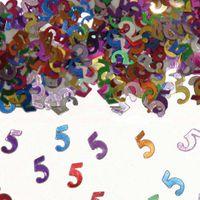 Konfetti Zahlenkonfetti 5 Geburtstag 15g