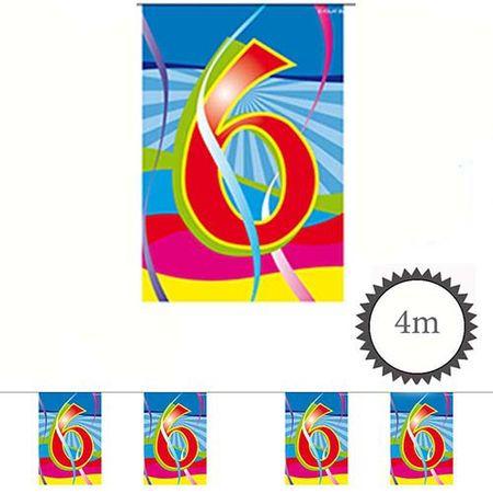 Mini Wimpelkette Swirl 6 Geburtstag 4m