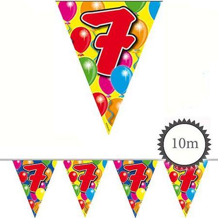 Wimpelkette Ballons 7 Geburtstag 10m