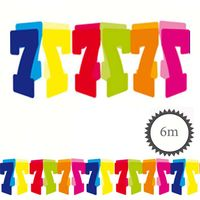 Papier Girlande 7 Geburtstag 6m
