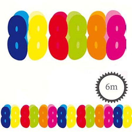Papier Girlande 8 Geburtstag 6m