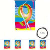 Mini Wimpelkette Swirl 9 Geburtstag 4m