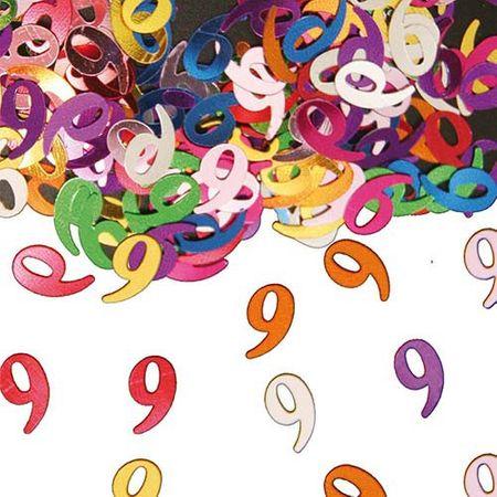 Konfetti Zahlenkonfetti 9 Geburtstag 15g