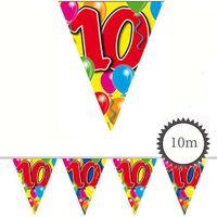 Wimpelkette Ballons 10 Geburtstag 10m