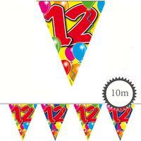 Wimpelkette Ballons 12 Geburtstag 10m