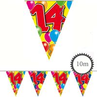 Wimpelkette Ballons 14 Geburtstag 10m