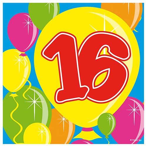 Servietten Ballons 16 Geburtstag 20 Stk Partydeko Geburtstage